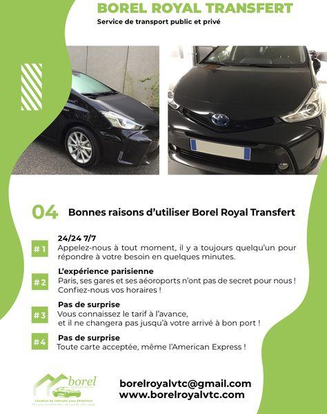 Borel Royal Transfert location de voiture avec chauffeur