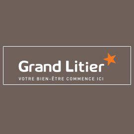 Grand Litier Alençon literie (détail)