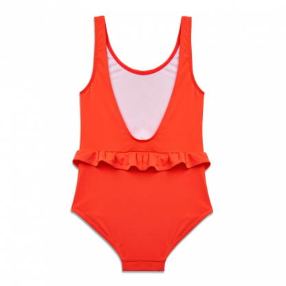 Anemone Deep Coral Swimsuit back