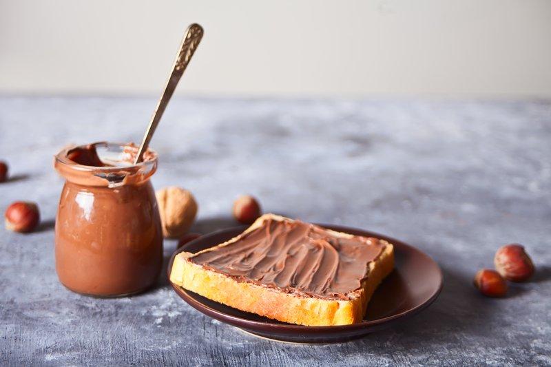pan con crema de avellana