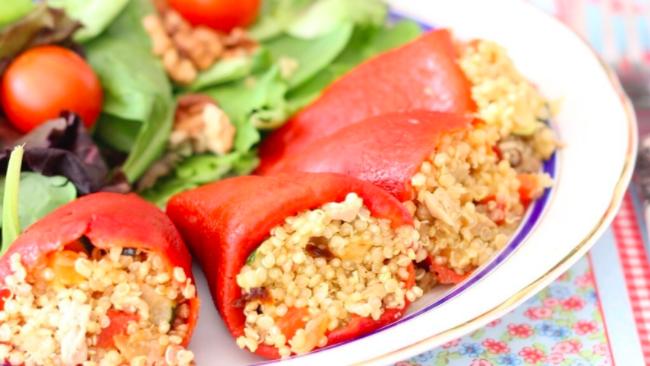 Receta Pimientos con Quinoa