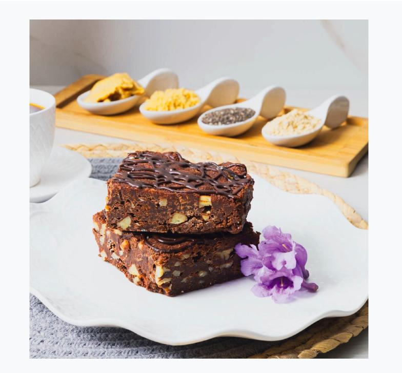 Brownies Veganos YEMA