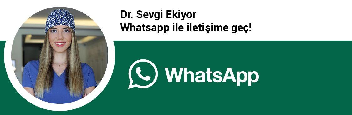 Dr. Sevgi Ekiyor whatsapp butonu