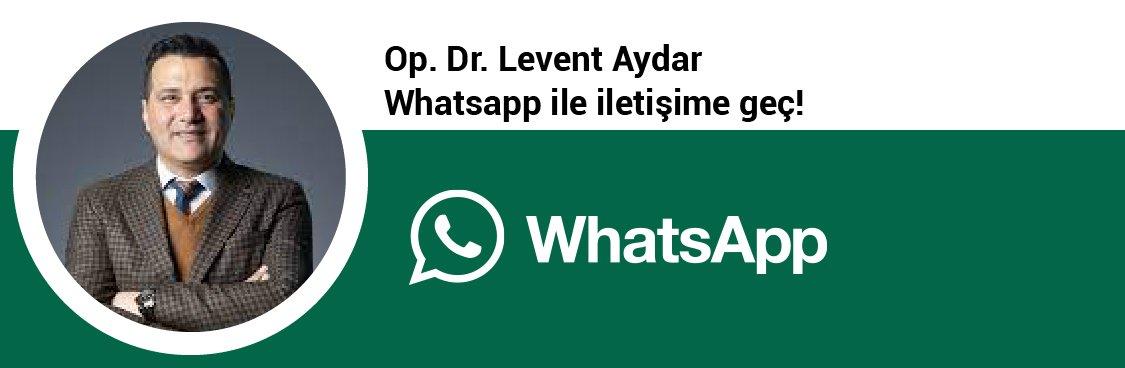 Op. Dr. Levent Aydar whatsapp butonu