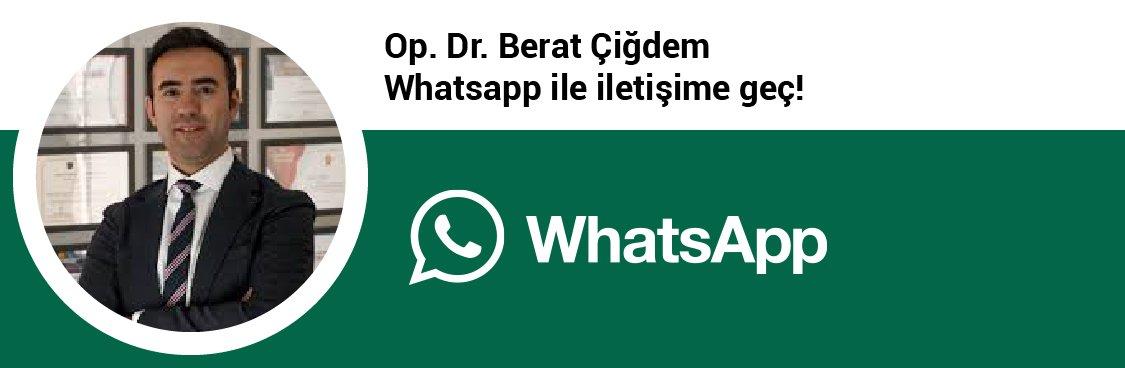 Op. Dr. Berat Çiğdem whatsapp butonu