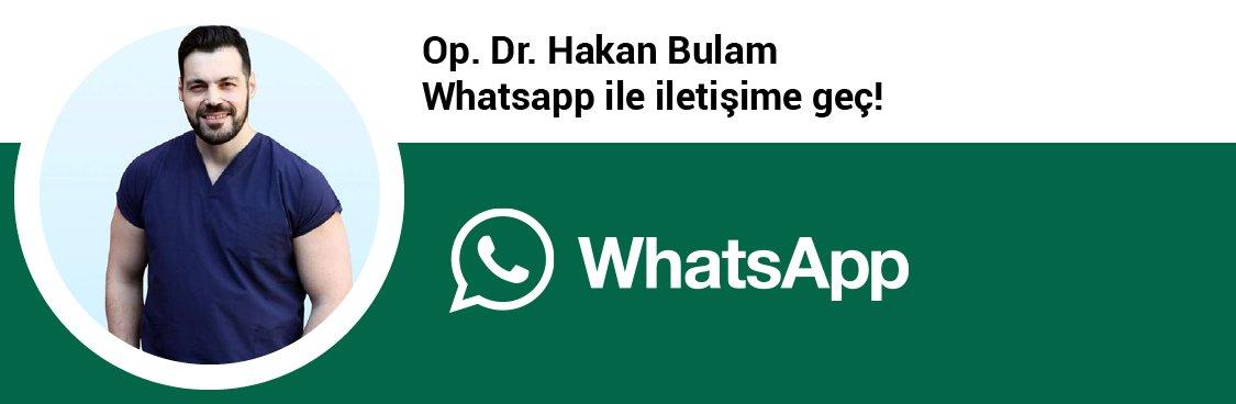 Op. Dr. Hakan Bulam whatsapp butonu