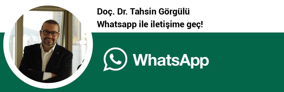 Doç. Dr. Tahsin Görgülü whatsapp butonu