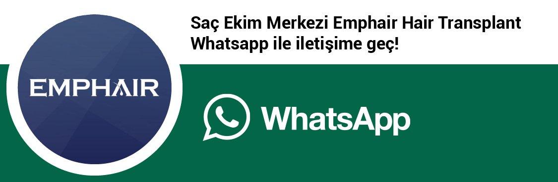 Emphair Saç Ekim Merkezi whatsapp butonu