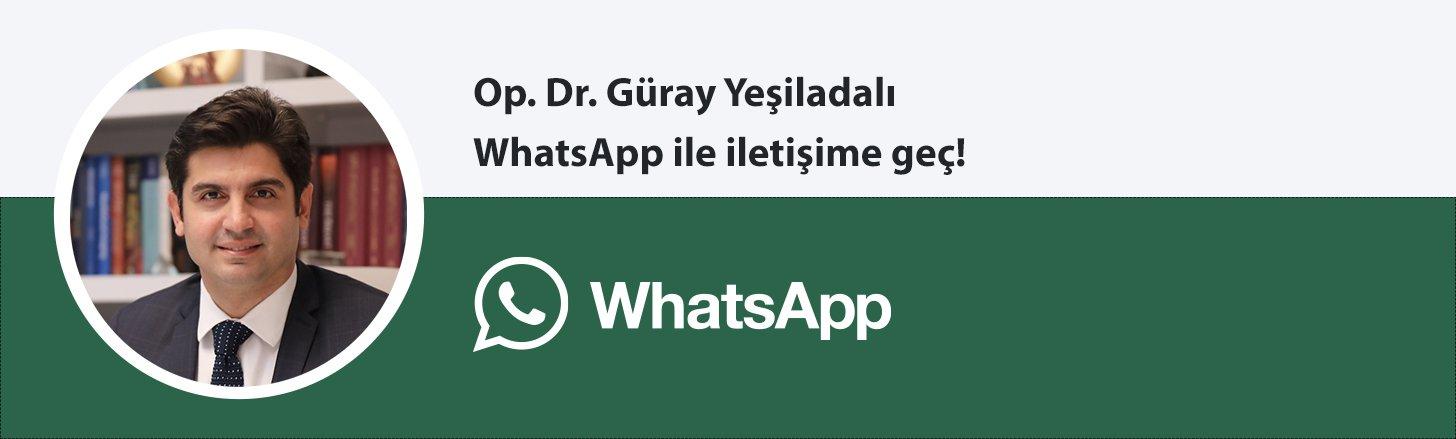 Op. Dr. Güray Yeşiladalı whatsapp butonu