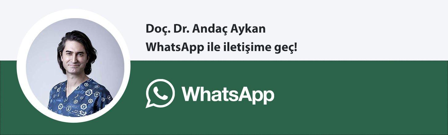 Doç. Dr. Andaç Aykan whatsapp butonu