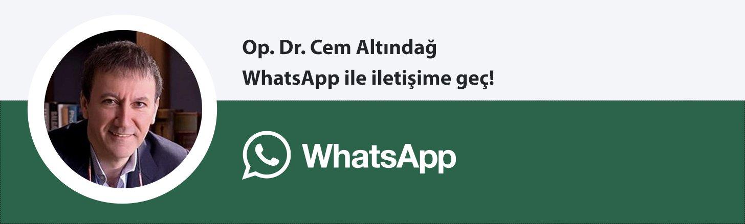 Op. Dr. Cem Altındağ whatsapp butonu