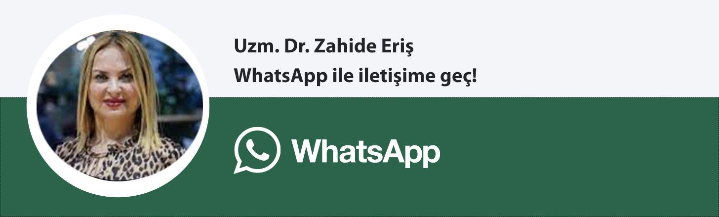Uzm. Dr. Zahide Eriş whatsapp butonu