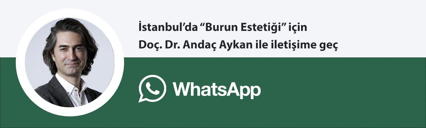 Doç. Dr. Andaç Aykan burun estetiği whatsapp butonu