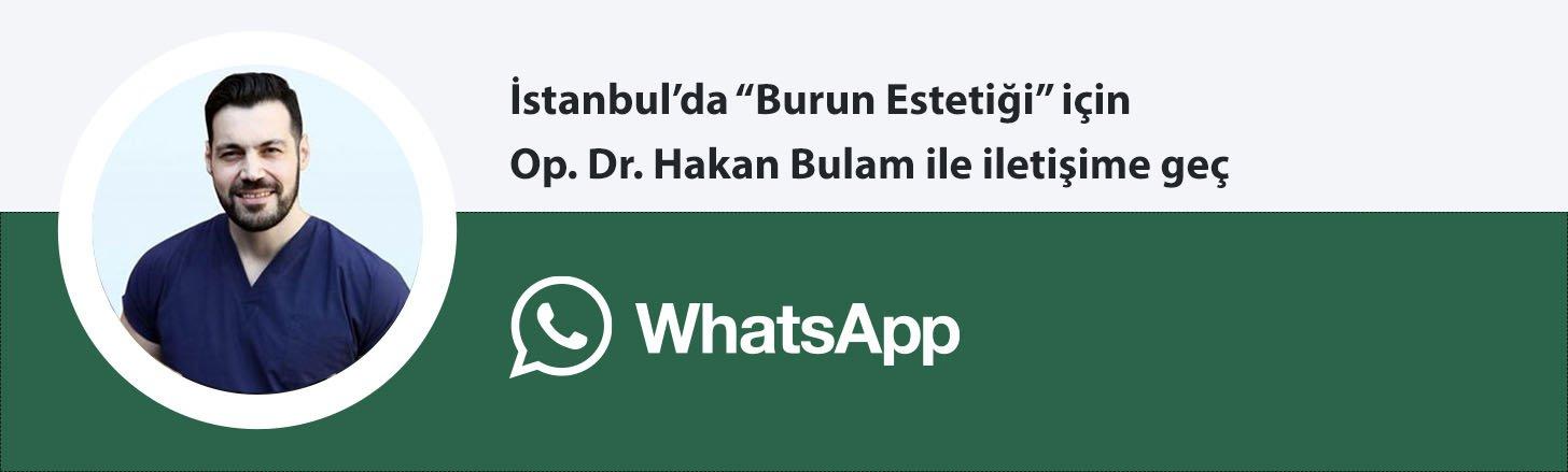 Op. Dr. Hakan Bulam burun estetiği whatsapp butonu