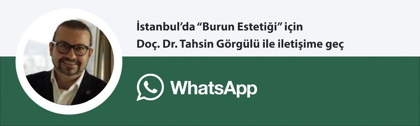 Doç. Dr. Tahsin Görgülü burun estetiği whatsapp butonu