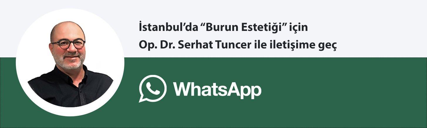 Op. Dr. Serhat Tuncer burun estetiği whatsapp butonu