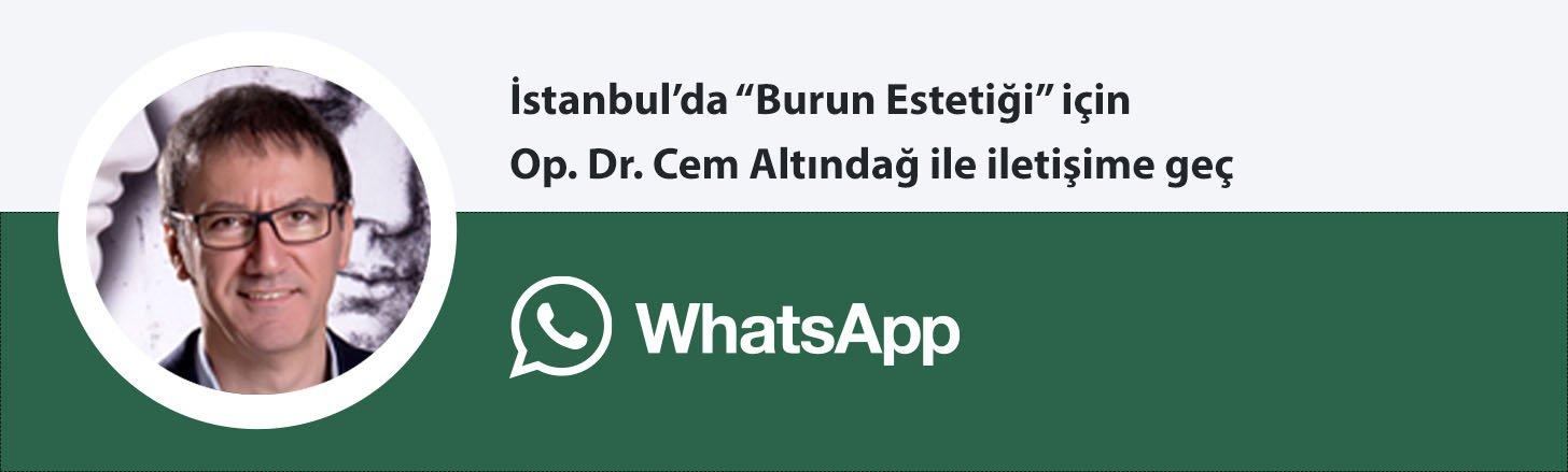 Op. Dr. Cem Altındağ burun estetiği whatsapp butonu