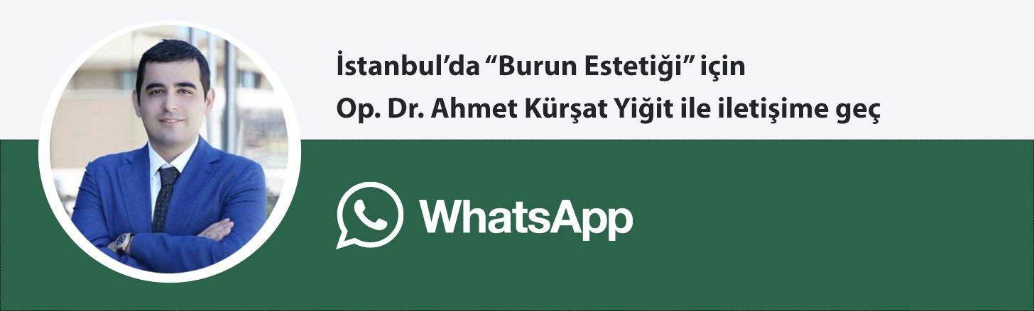 Op. Dr. Ahmet Kürşat Yiğit burun estetiği whatsapp butonu
