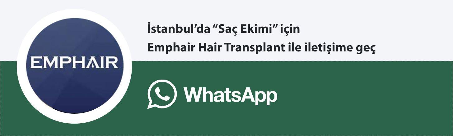 EMphair saç ekim whatsapp butonu