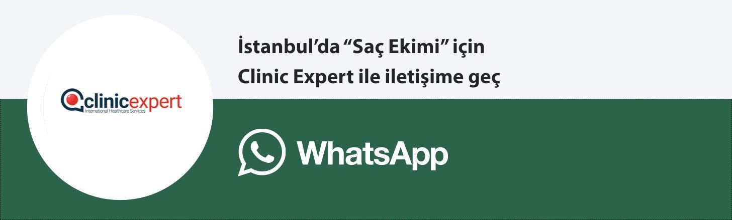 Clinic Expert saç ekimi whatsapp butonu