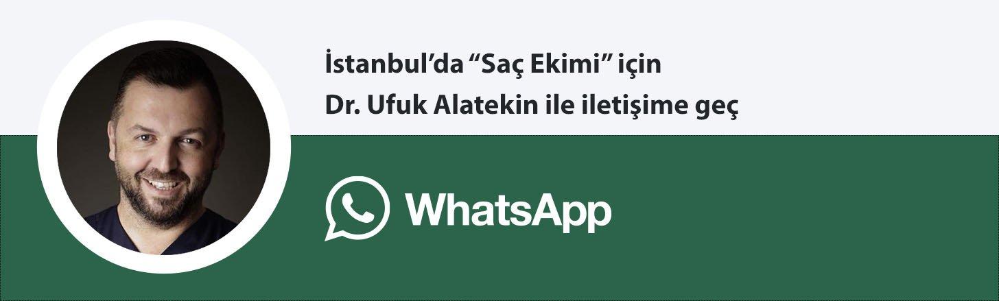 Dr. Ufuk Alatekin saç ekimi whatsapp butonu