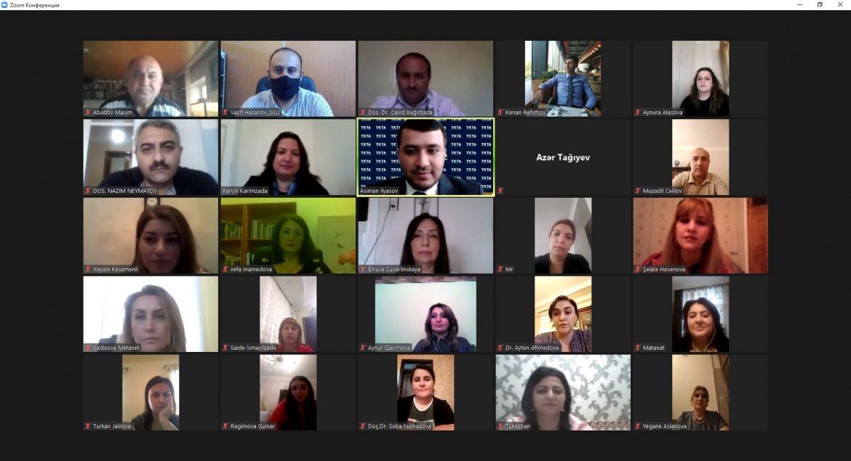 Gəncə Dövlət Universitetində onlayn seminar keçirilib (FOTO)