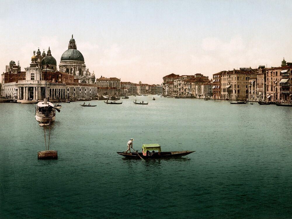 Photographie L'ENTRÉE DU GRAND CANAL DE VENISE 1895 -  ADOC PHOTOS - Tableau photo