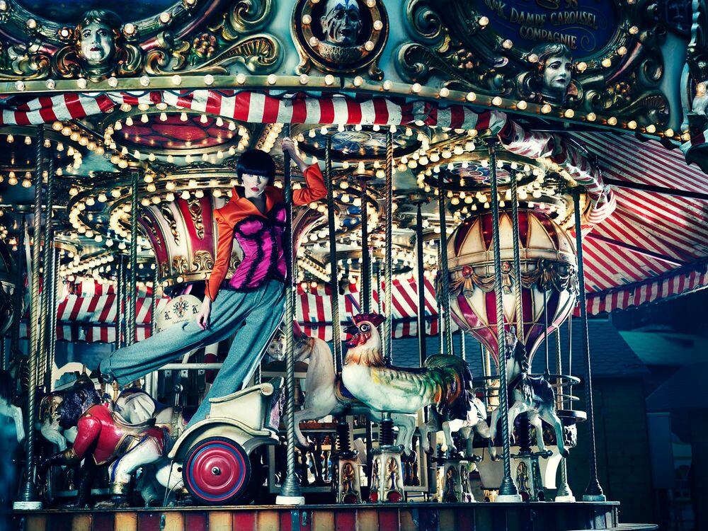 Photograph Merry Go Round I - ANATOL DE CAP ROUGE - Picture painting