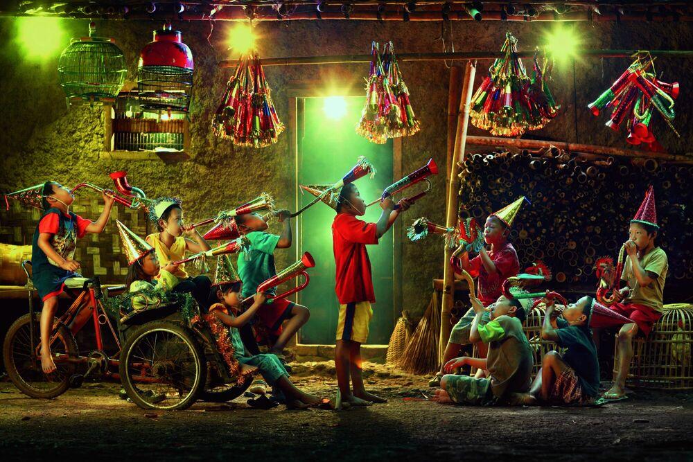 Kunstfoto New Year Party - ANDRE ARMENT - Foto schilderij