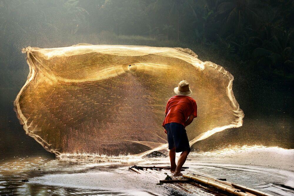 Photographie Sengkol Fisherman - ANDRE ARMENT - Tableau photo
