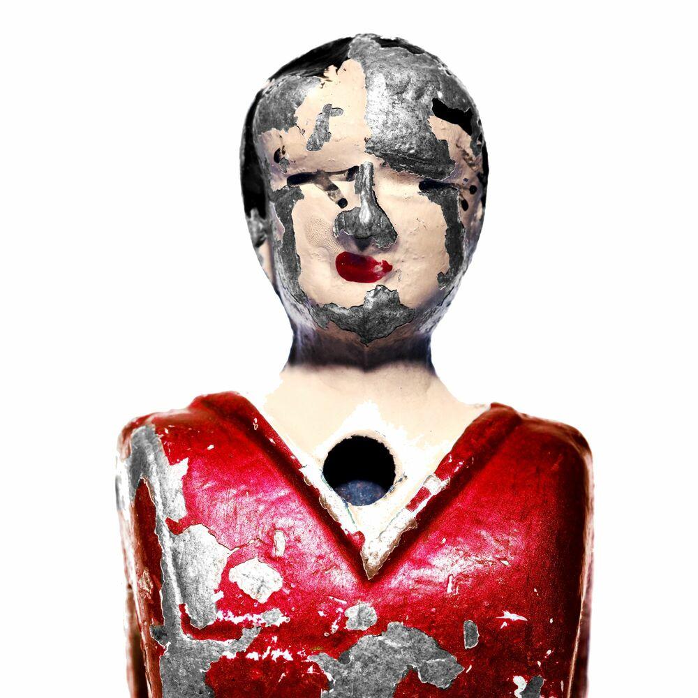 Kunstfoto Babyfoot rouge - ANDRE ROBE - Foto schilderij