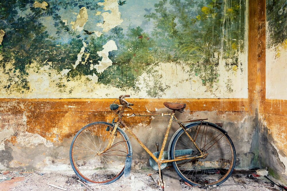 Fotografie LA BICYCLETTE Italie - AURELIEN VILLETTE - Bildermalerei