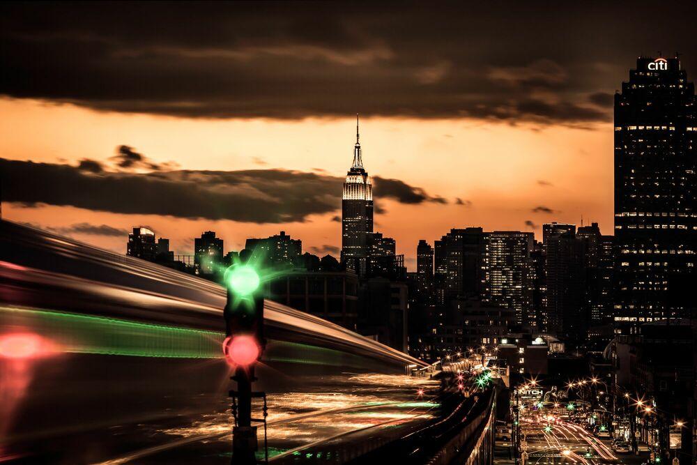 Photographie NYC Williamsburg Subway - BERNHARD HARTMANN - Tableau photo