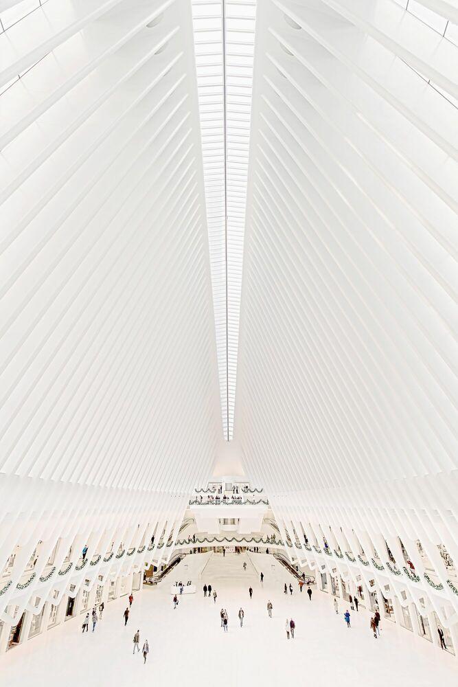 Fotografie WORLD TRADE CENTER MTA TRAIN STATION - BERNHARD HARTMANN - Bildermalerei