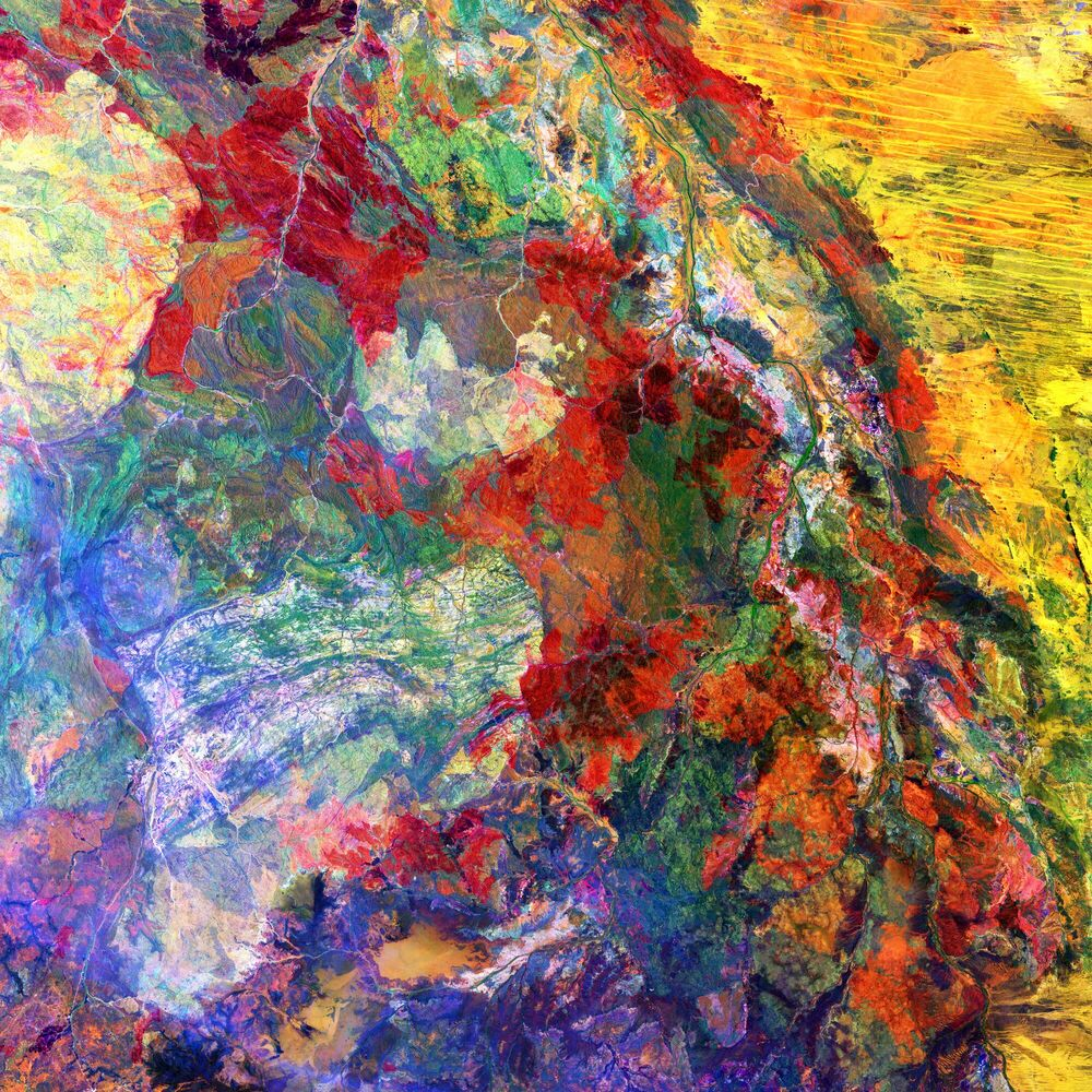 Photograph MELTED COLORS -  CHASSEURS DE NUITS - Picture painting