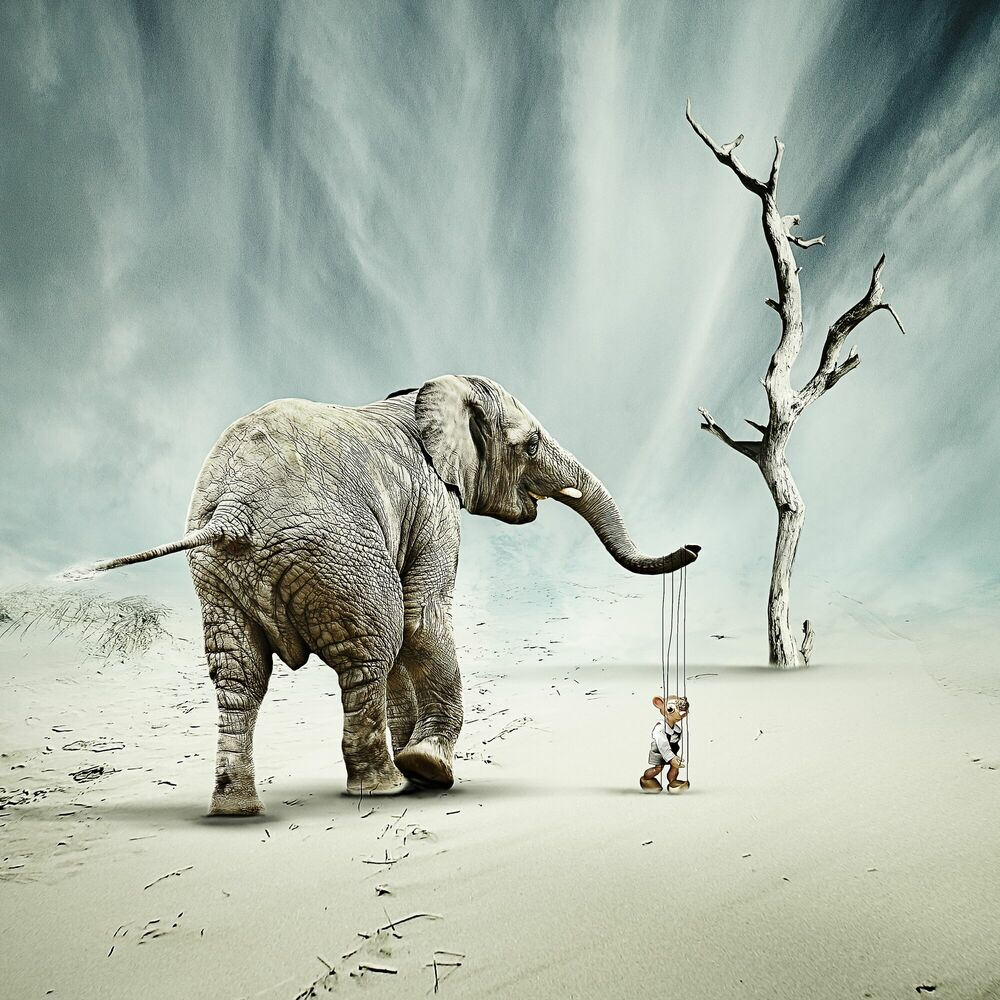 Photograph Puppenspieler - CHRISTINE ELLGER - Picture painting