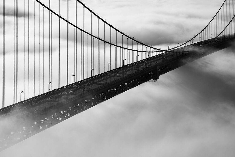 Photographie Golden Gate Bridge in Fog - CHRISTOPHER BLISS - Tableau photo