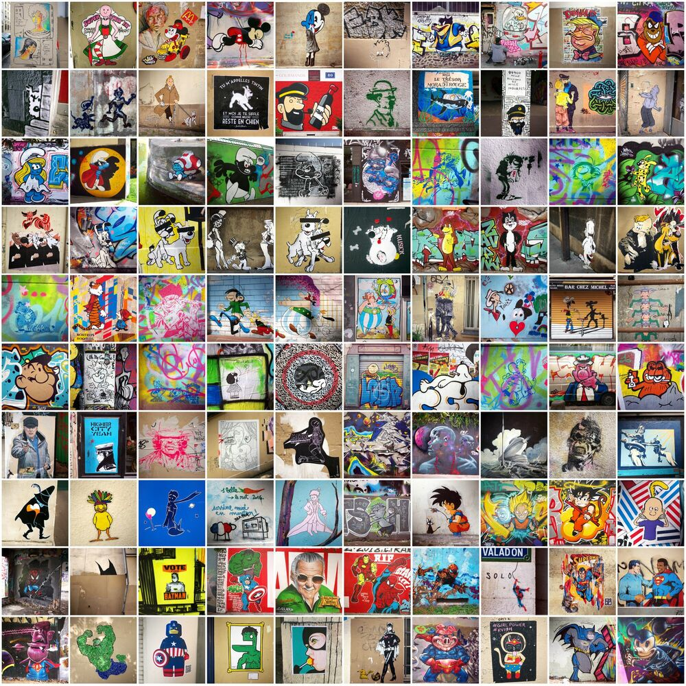 Fotografia MASHUP COMIC STRIP - CLAUDE DEGOUTTE - Pittura di immagini