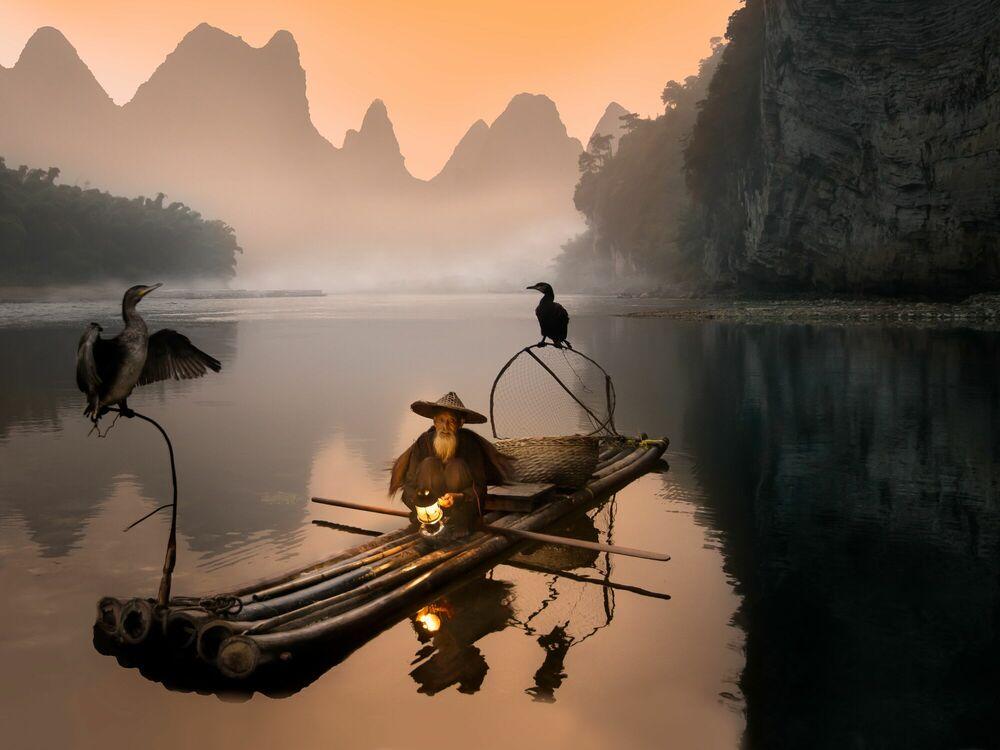 Kunstfoto Old Fisherman - DANIEL METZ - Foto schilderij