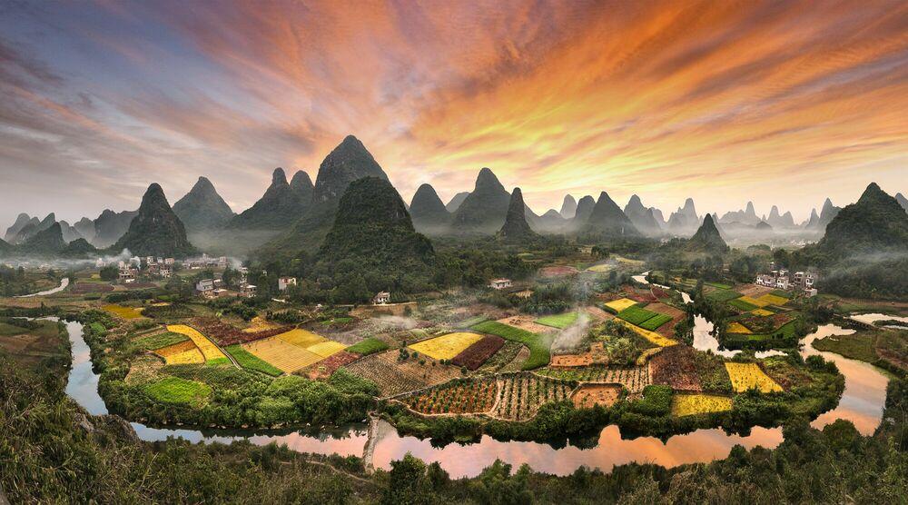 Fotografia Peaks forest - DANIEL METZ - Pittura di immagini