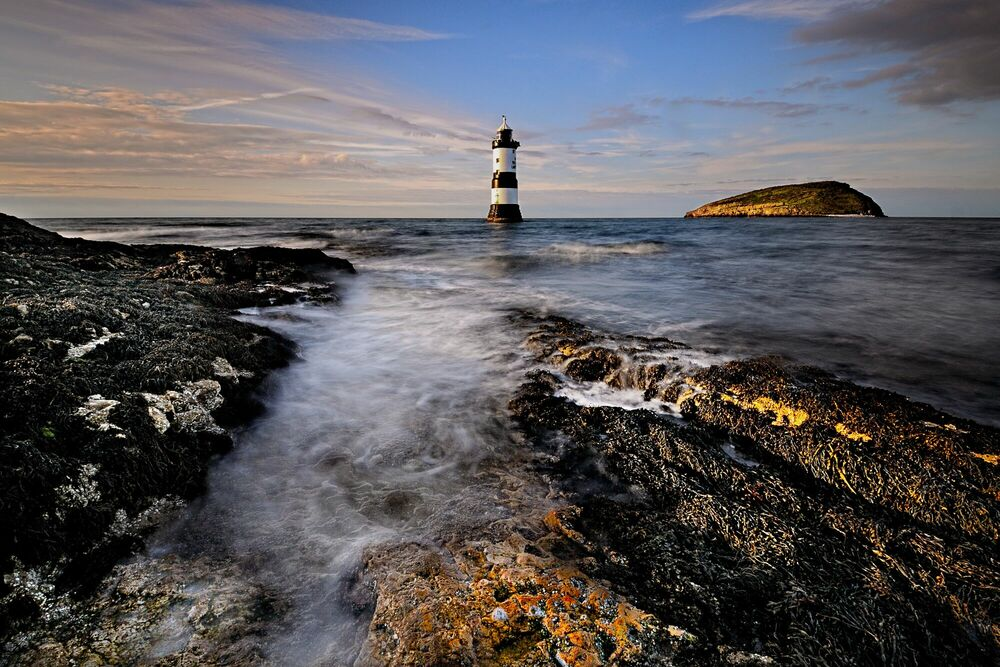 Fotografie Penmon Lighthouse -  DAVE - Bildermalerei