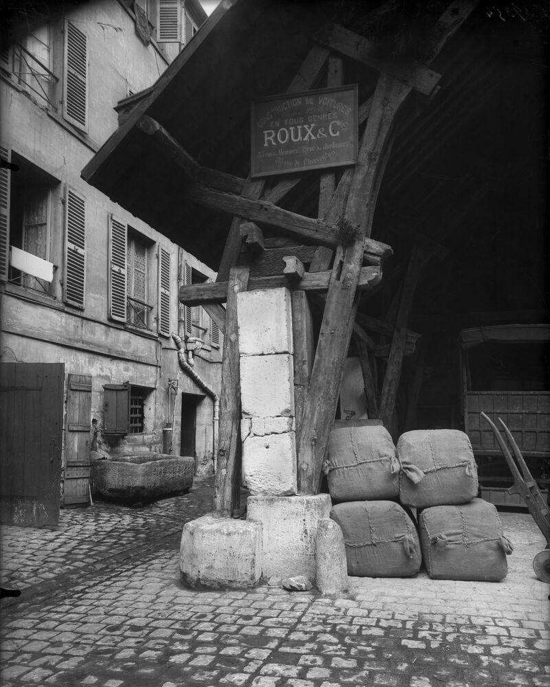 Photographie L'Auberge au Compas d'Or, 1909 - EUGENE ATGET - Tableau photo