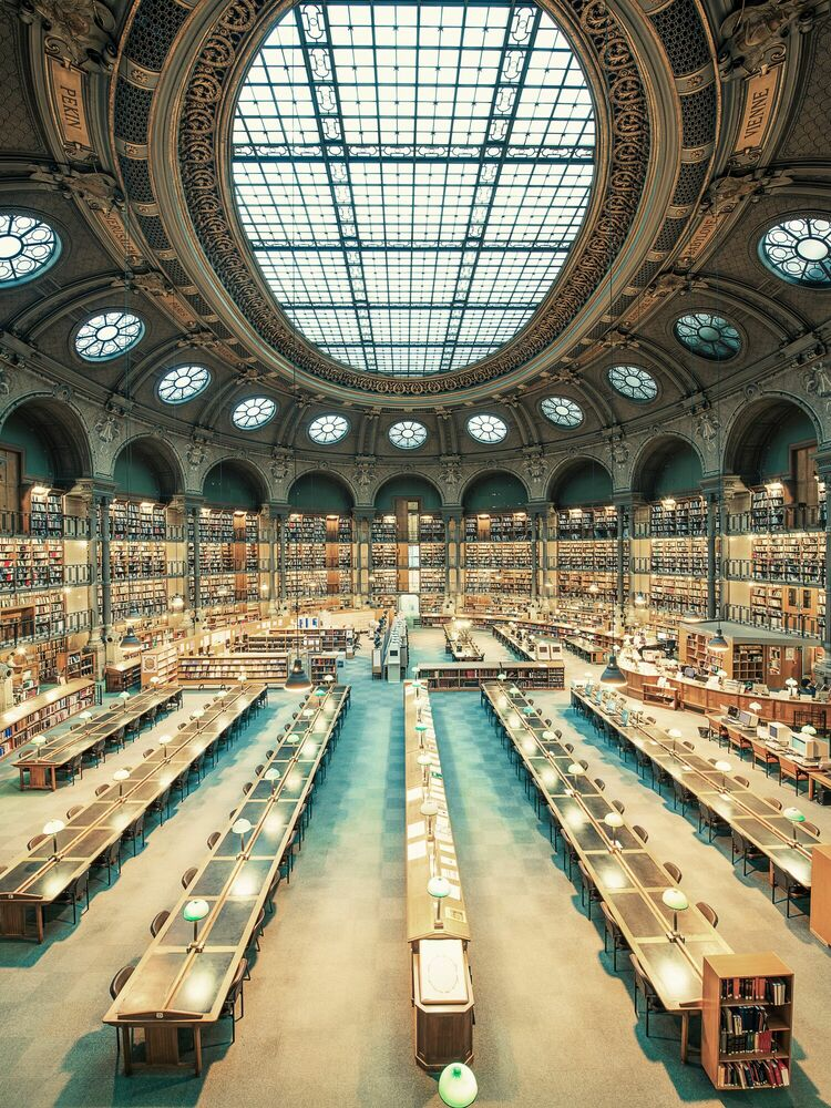 Fotografie Bibliothèque Nationale de France II - FRANCK BOHBOT STUDIO - Bildermalerei