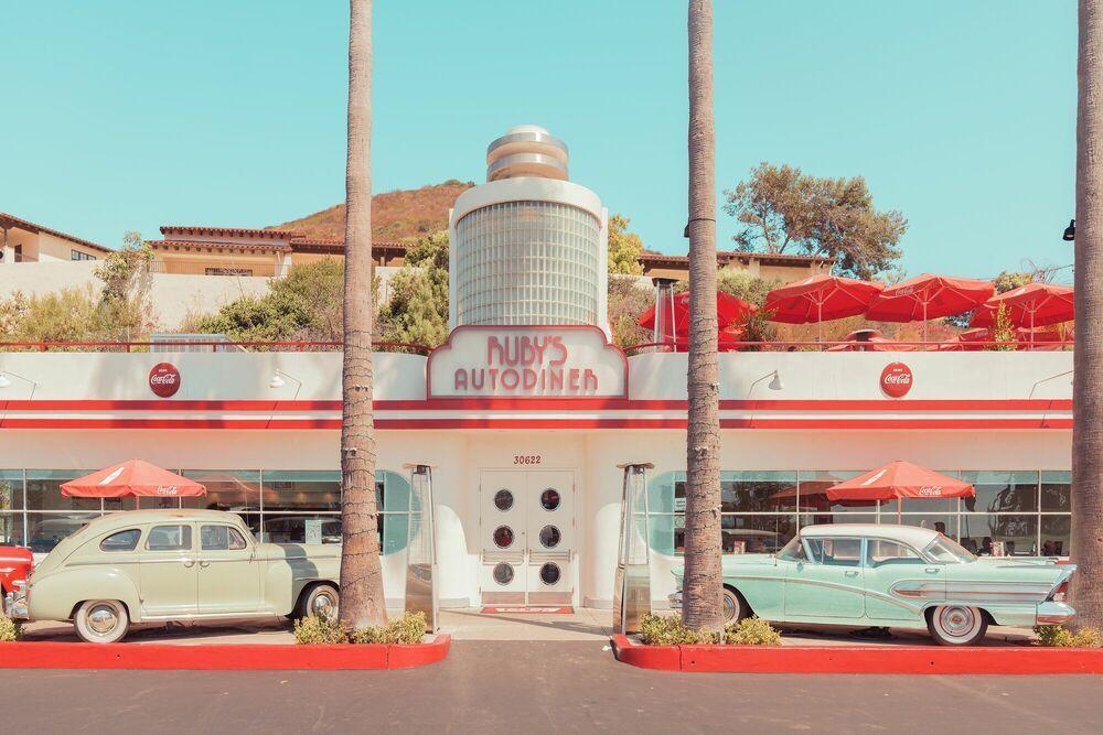 Fotografie Ruby's Auto Diner, Laguna Beach - FRANCK BOHBOT STUDIO - Bildermalerei