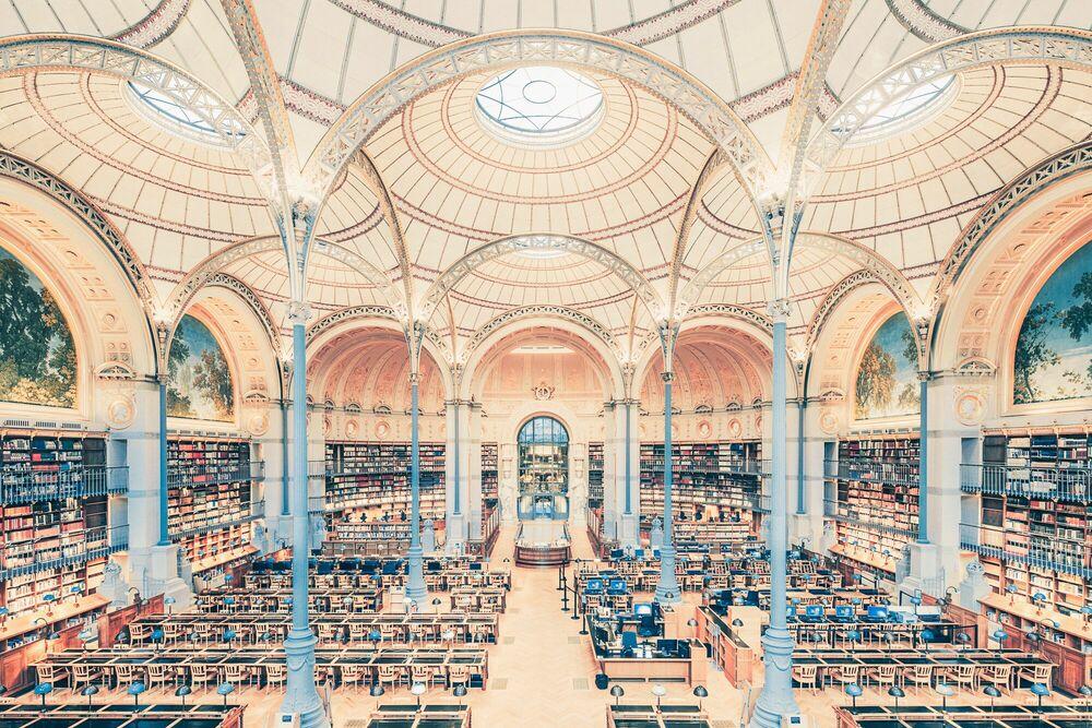 Photographie SALLE LABROUSTE BIBLIOTHÉQUE DE L'INHA PARIS 2017 II - FRANCK BOHBOT STUDIO - Tableau photo