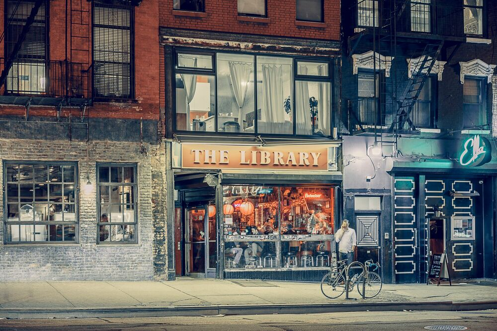 Fotografie The Library East Village NY - FRANCK BOHBOT STUDIO - Bildermalerei