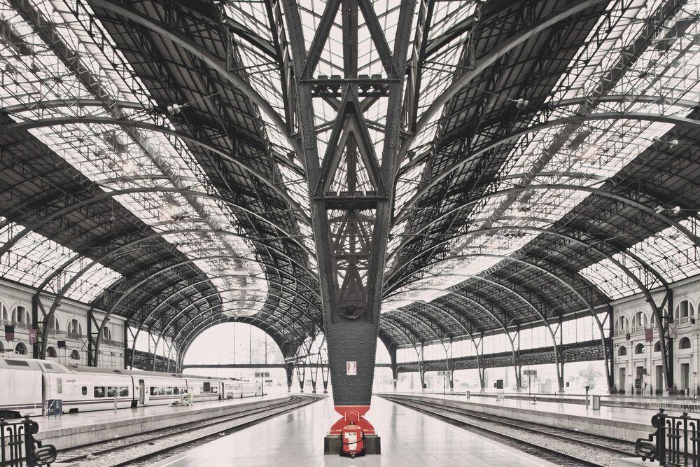 Fotografie Train station Barcelona - FRANCK BOHBOT STUDIO - Bildermalerei