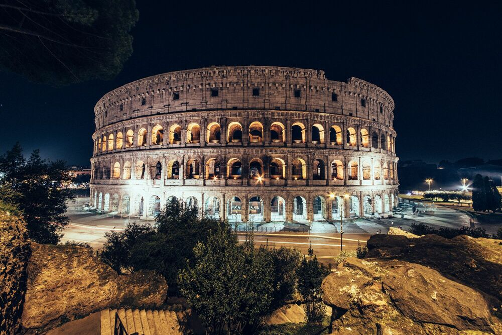 Photographie DESERT IN ROME COLOSSEO - GENARO BARDY - Tableau photo