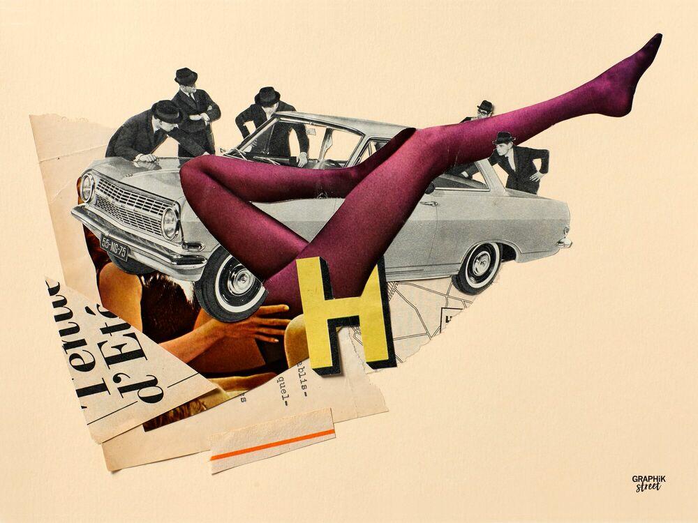 Fotografie PURPLE LEGS -  GRAPHIKSTREET - Bildermalerei