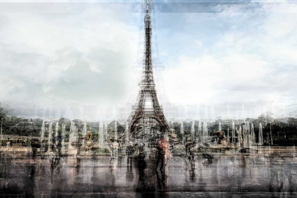Photographie EIFFEL TOWER IN THE RAIN - GUADALUPE LAIZ - Tableau photo
